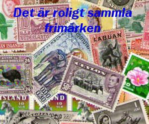 Det är roligt samla frimärken