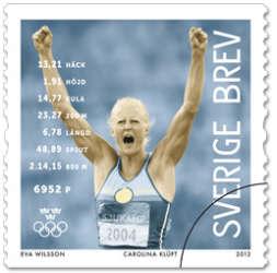 Carolina Klüft olympiadfrimärke
