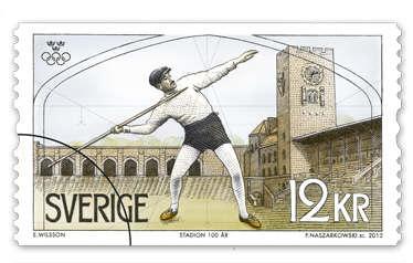 OS-1912 olympiadfrimärke