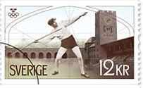 Frimärke Stadion i Stockholm 1912