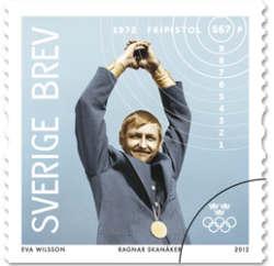 Ragnar Skanåker olympiadfrimärke