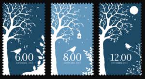 Danmark vinterfrimärke 2012
