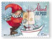 Åland Julpost frimärke 2012
