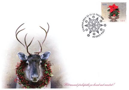 Estlands julfrimärke FDC 2012