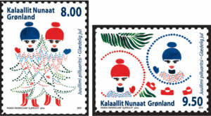 Grönland Julpost frimärke 2012
