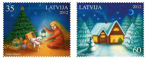 Lettland julfrimärke
