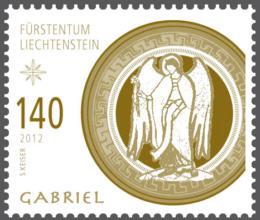 Liechtenstein julfrimärke 2012, Ärkeängeln Gabriel