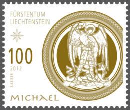 Liechtenstein julfrimärke 2012, Ärkeängeln Mikael
