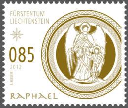 Liechtenstein julfrimärke 2012, Ärkeängeln Rafael