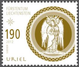 Liechtenstein julfrimärke 2012, Ärkeängeln Uriel