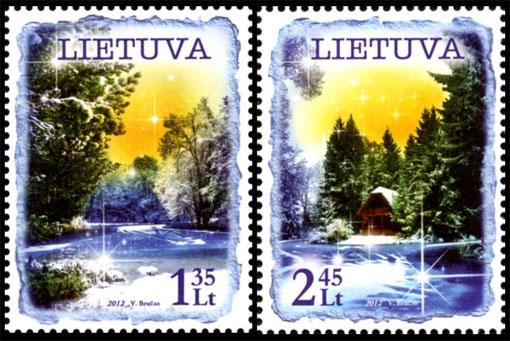 Litauens julfrimärken 2012