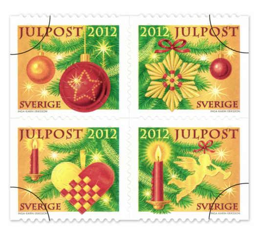 Sverige julfrimärken 2012