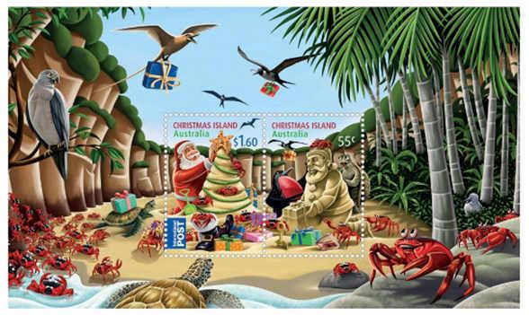 Julöns julfrimärken souvenirark