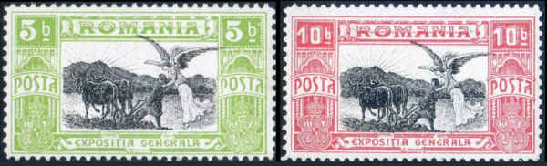 Rumänien 1906 plöjande bonde