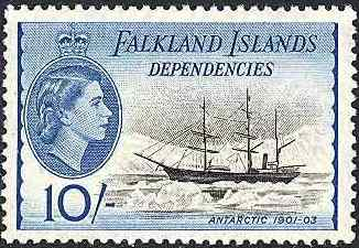 Frimärke 1954 Falklandsöarna Dependencies