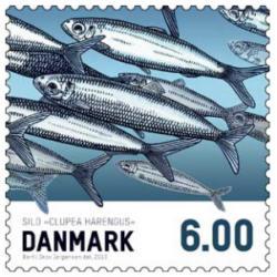 Frimärken Danmark Matfisk Sill