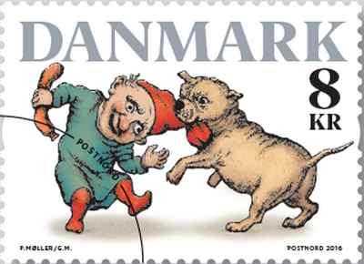 världens första frimärke