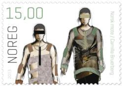 Frimärken Norskt mode Camilla Bruerberg
