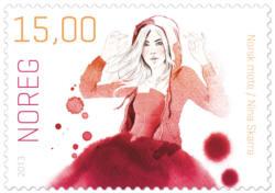 Frimärken Norskt mode Nina Skarra