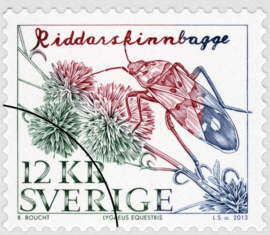 Frimärke Riddarskinnbagge