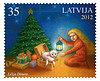 Lettland julfrimärke 2012